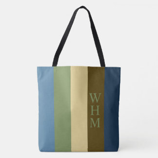 Tote Bag Couche-culotte couvrante de monogramme de rayure