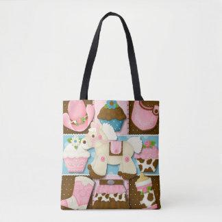 Tote Bag Couche-culotte/sac fourre-tout de cow-girl de
