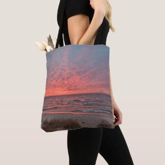 Tote Bag Coucher du soleil de décembre sur le lac Michigan
