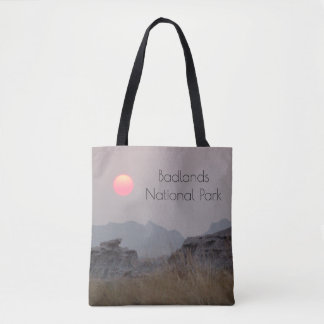 Tote Bag Coucher du soleil de parc national de bad-lands