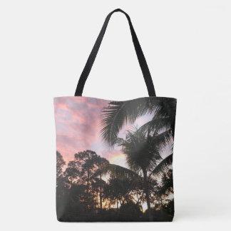 Tote Bag Couchers du soleil de palmier
