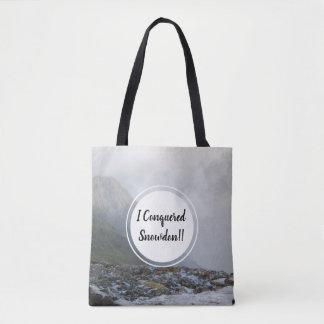 Tote Bag Courant et date conquis de montagne de Snowdon