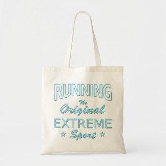 Tote Bag COURANT, le sport extrême original (néon bleu)