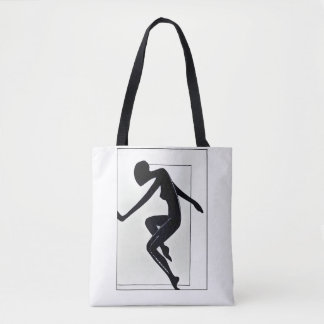 Tote Bag Course. Silhouette femelle