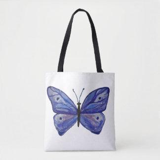 Tote Bag Coutume bleue de papillon tout plus de - imprimez