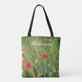Tote Bag Coutume de photo de fleurs sauvages tout plus de -