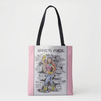 Tote Bag Cow-girl rose Fourre-tout