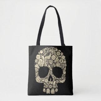 Tote Bag Crâne floral de sucre tout plus de - imprimez le