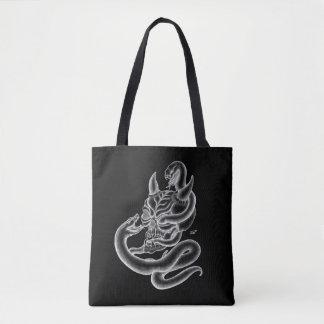 Tote Bag Crâne - tête de diable avec le serpent