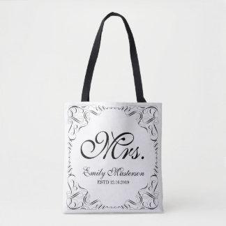 Tote Bag Créez votre propre monogramme de M. Mme His Hers