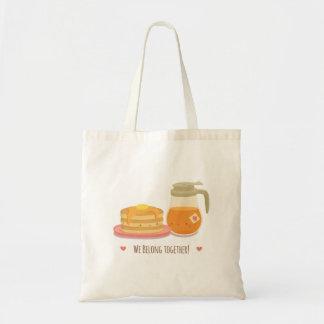 Tote Bag Crêpe et sirop d'érable mignons dans l'amour