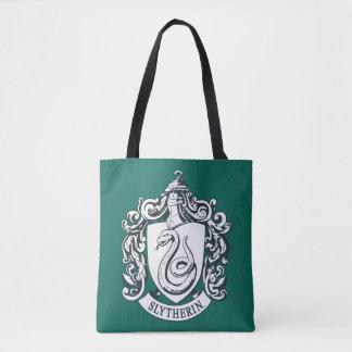 Tote Bag Crête de Harry Potter   Slytherin - noire et