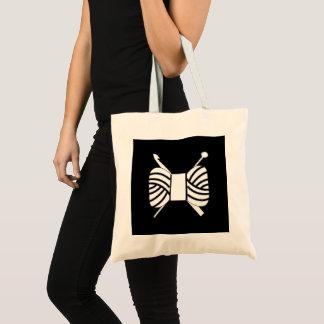 Tote Bag Crochet de Knit de logo de fil {foncé}