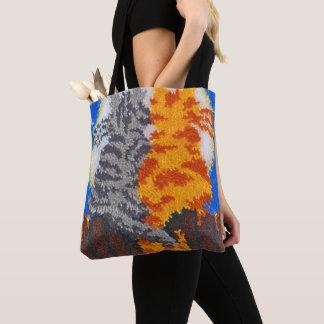 Tote Bag Crochet romantique de verrou de chats