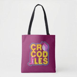 Tote Bag Crocodiles avec deux crocs heureux