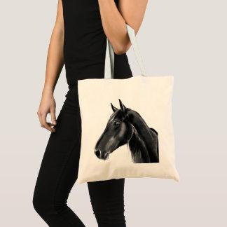 Tote Bag Croquis animal équin domestique de portrait de