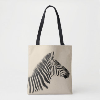 Tote Bag Croquis de zèbre de prairies de la savane d'animal