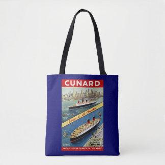 Tote Bag Cunard l'Europe vers la toute l'Amérique