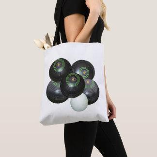 Tote Bag Cuvettes noires de pelouse sur le blanc,