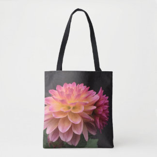 Tote Bag Dahlia rougeoyant