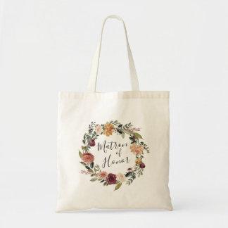 Tote Bag Dame de honneur rustique de la fleur  