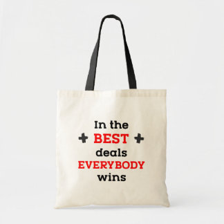 Tote Bag Dans les meilleures affaires tout le monde gagne