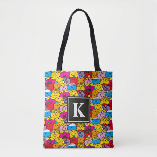 Tote Bag Dans un monogramme du motif | de foule