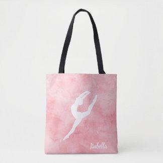 Tote Bag Danse rose faite sur commande d'aquarelle