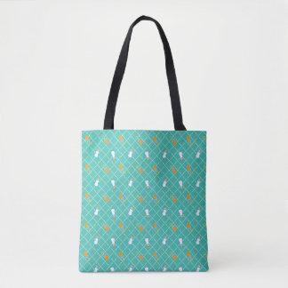 Tote Bag De patron les | motifs turquoises de bouteille et