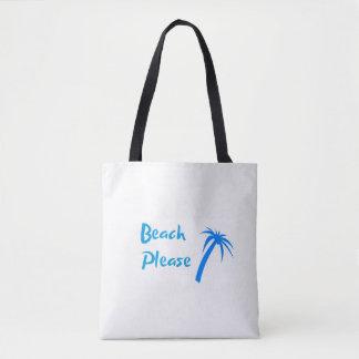 Tote Bag De plage coutume svp tout plus de - imprimez le