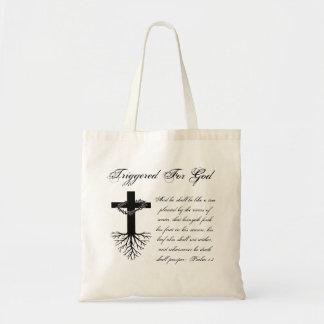 Tote Bag Déclenché pour Dieu Fourre-tout