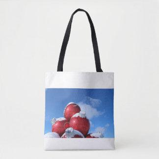 Tote Bag Décoration de vacances avec la neige