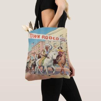 Tote Bag Défilé occidental vintage de rodéo de ville