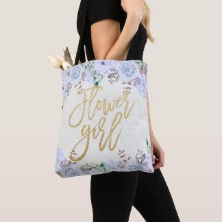 Tote Bag Demoiselle de honneur florale de mariage de