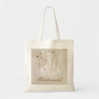 Tote Bag demoiselle d'honneur élégante de cru de lustre de