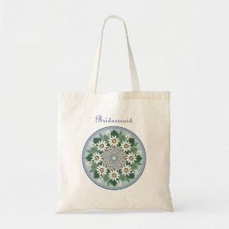 Tote Bag Demoiselle d'honneur Fourre-tout floral