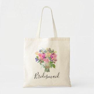 Tote Bag Demoiselle d'honneur nuptiale de bouquet d'été