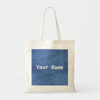Tote Bag Denim fait sur commande Fourre-tout avec votre nom