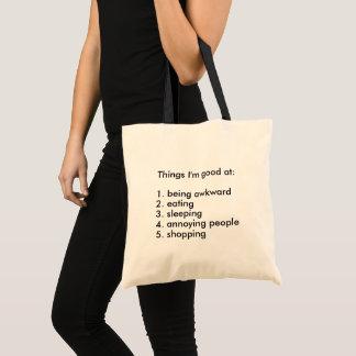 Tote Bag Des choses drôles je suis bon à la liste