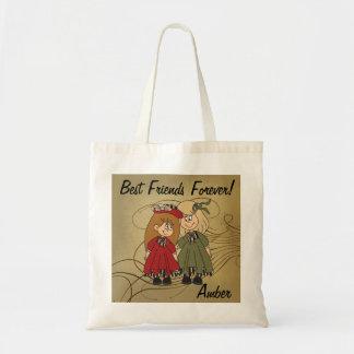 Tote Bag Des meilleurs amis nom pour toujours  