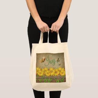 Tote Bag Des tournesols et des papillons Fourre-tout -