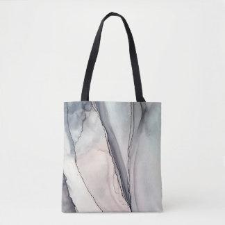 Tote Bag Désaccord gris - Inkwork par Karen Ruane