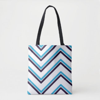 """Tote Bag Dessin géométrique de """"zig-zag"""" -"""