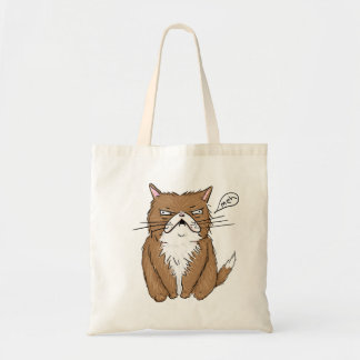 Tote Bag Dessin grincheux drôle de chat de Meh