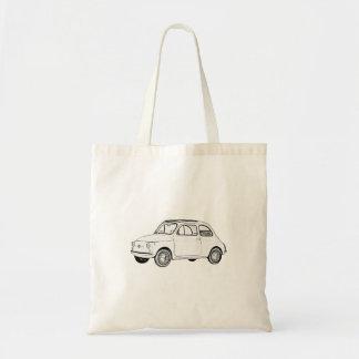 Tote Bag Dessin noir et blanc de style de crayon de Fiat
