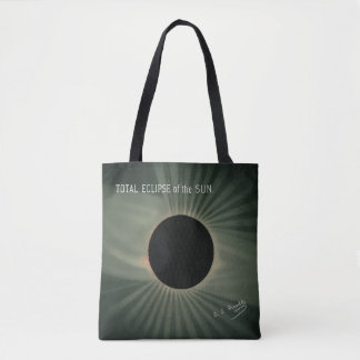 Tote Bag Dessins de Trouvelot - éclipse totale du Sun