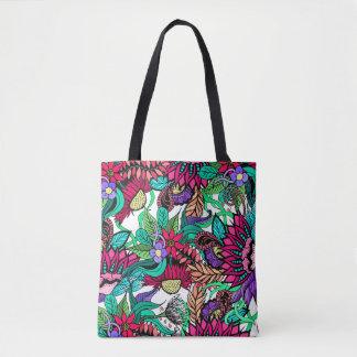 Tote Bag Dessins illustrés par jardin d'agrément vibrant
