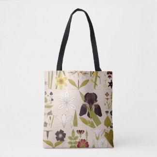Tote Bag Dessins vintages des fleurs