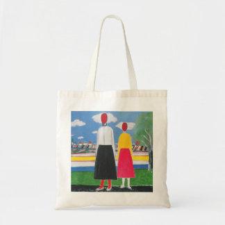 Tote Bag Deux figures dans un paysage par Kazimir Malevich