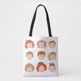 Tote Bag Différents visages mignons